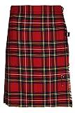 Oxfords Cashmere 100% Wolle Kurzer Kilt für Damen, Royal Stewart, 34