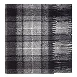 Oxfords Cashmere Reine Schurwolle Luxury Tartan Schal, Grey Buchanan