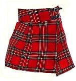Unbekannt Damen Kilt, Schottenrock Black Watch oder royal Stewart Tartan (EU 32 UK6, Royal Stewart)