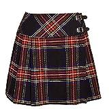 Schottland Kilt Co Damen Billie Kilt Schottenrock 16 inch Länge Schottische Neu - Schwarz Stewart,...